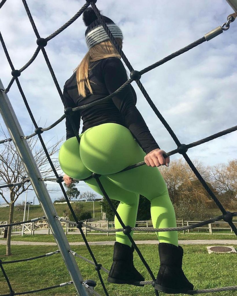 monster-booty-green-yoga-pants